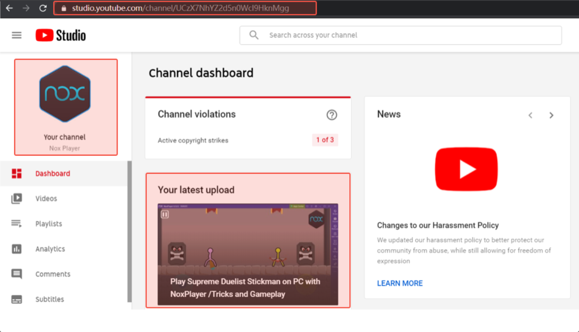 5. Channel Verification Example- Noxinfluencer